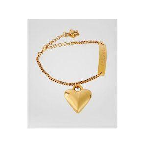 NIB Versace Gold Tone Love Bracelet